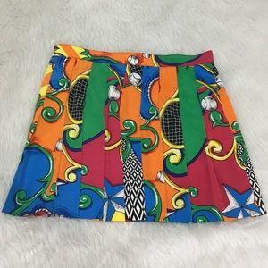 Tail multicolored tennis Pleated skirt